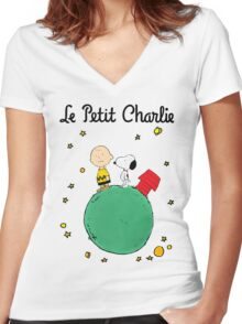 Little Prince Women's Fitted V-Neck T-Shirt