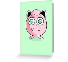 Adorable Green-Eyed Jigglypuff Greeting Card