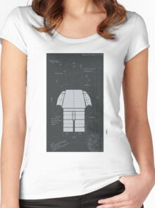 Old Timey Lego Man Women's Fitted Scoop T-Shirt