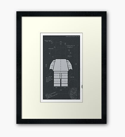 Old Timey Lego Man Framed Print