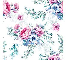 Watercolor vintage floral seamless pattern Photographic Print