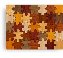 Puzzle Wood Canvas Print