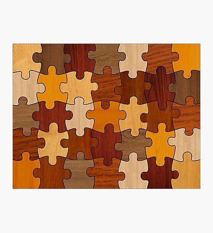 Puzzle Wood Photographic Print