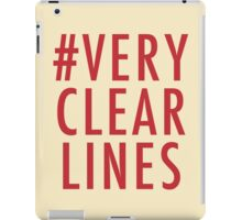 #Very Clear Lines iPad Case/Skin