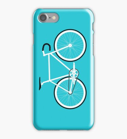 Turquoise Fixed Gear Road Bike iPhone Case/Skin