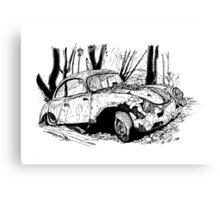 Porsche 356 rally Canvas Print