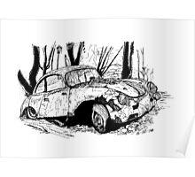 Porsche 356 rally Poster