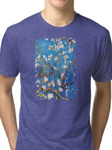 Branches of an Almond Tree in Blossom Tri-blend T-Shirt