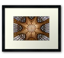 Ceiling of the Chapter House of York Minster (York, United Kingdom) Framed Print