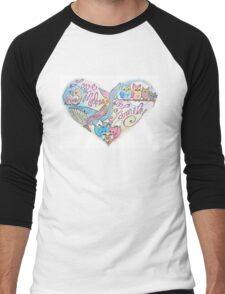 Love Makes a Family Men's Baseball ¾ T-Shirt