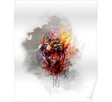 color bleeding heart Poster