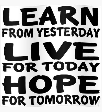 Learn Live Hope Poster