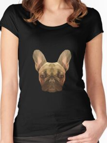French bulldog. Women's Fitted Scoop T-Shirt