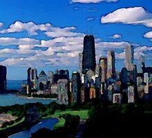 Chicago Oil Painting by ElletheDark