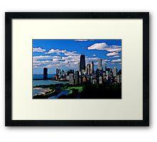 Chicago Oil Painting Framed Print