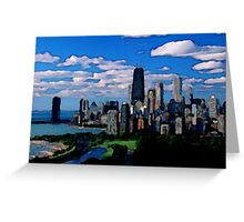 Chicago Oil Painting Greeting Card