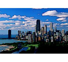 Chicago Oil Painting Photographic Print