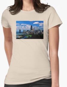 Chicago Oil Painting Womens Fitted T-Shirt