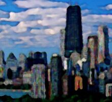 Chicago Oil Painting Sticker