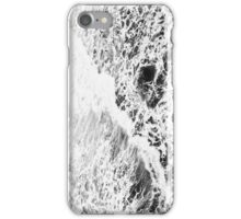 White Waves (Black and White) iPhone Case/Skin