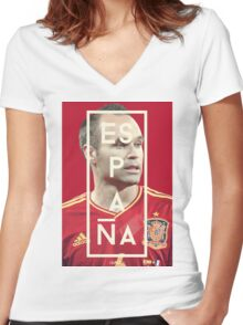 Iniesta - Espana Women's Fitted V-Neck T-Shirt