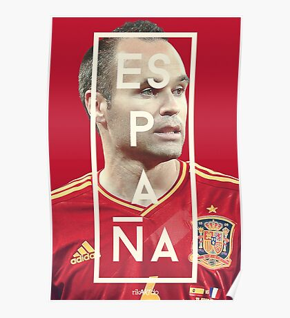 Iniesta - Espana Poster
