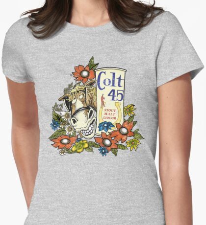 Jeff Spicoli's Original Colt 45 - HD Colt Distressed Variant Womens Fitted T-Shirt