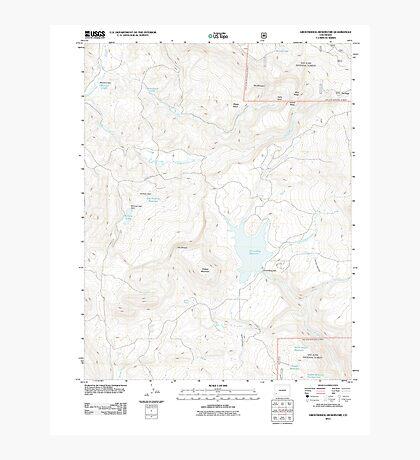 USGS TOPO Map Colorado CO Groundhog Reservoir 20110615 TM Photographic Print