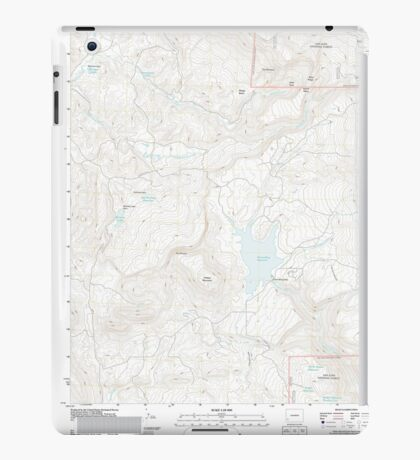 USGS TOPO Map Colorado CO Groundhog Reservoir 20110615 TM iPad Case/Skin