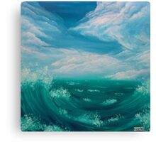 Quello che racconta il mare Canvas Print