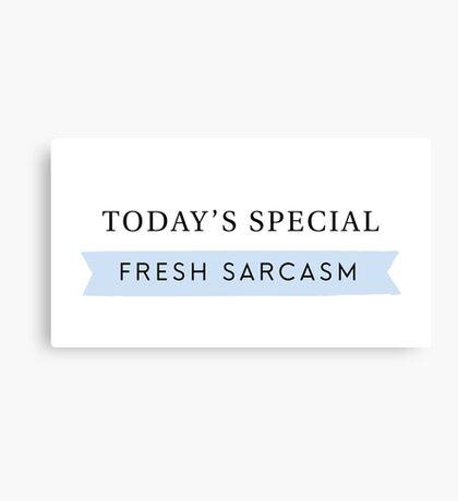 Fresh Sarcasm Canvas Print