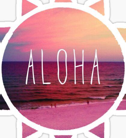 sunset aloha Sticker