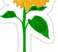 Sunflower with Stem Sticker