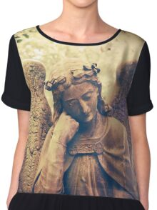 Statue of a beautiful angel Chiffon Top