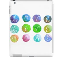 Hand-Painted Watercolor Circles Colorful Rainbow iPad Case/Skin