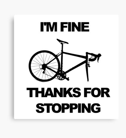 Bicycle Puncture Sarcasm Canvas Print