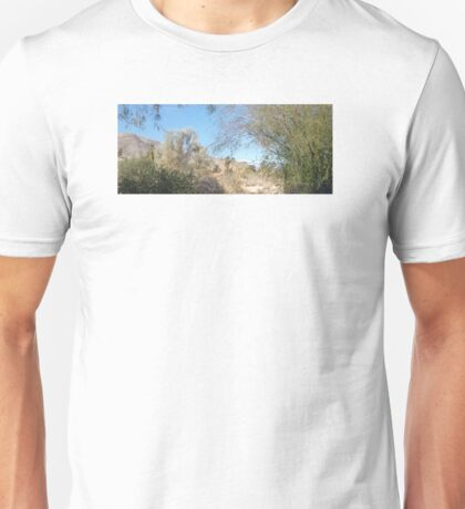 TRANQUIL SCENE TO SNOW CAP MOUNTAINS Unisex T-Shirt