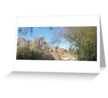 TRANQUIL SCENE TO SNOW CAP MOUNTAINS Greeting Card