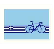 Bike Stripes Greece Art Print