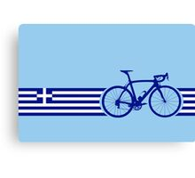 Bike Stripes Greece Canvas Print