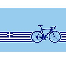 Bike Stripes Greece Photographic Print