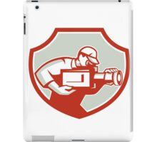 Cameraman Film Crew Camera Shield Retro iPad Case/Skin