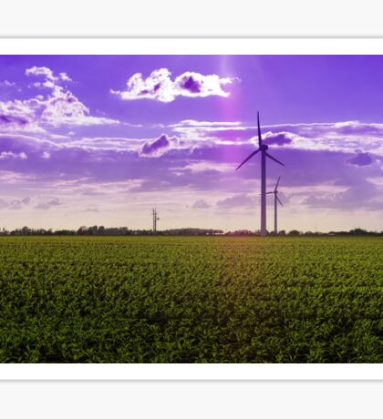 Corn field with windmills Sticker