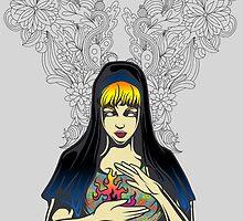 Floral Nun by tinaodarby