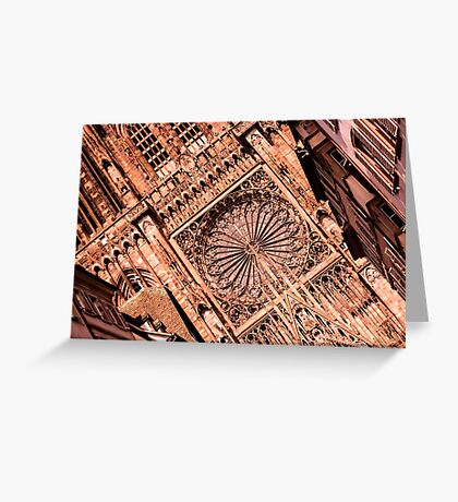 Cathedral Notre Dame of Strasbourg - Travel Photography Greeting Card