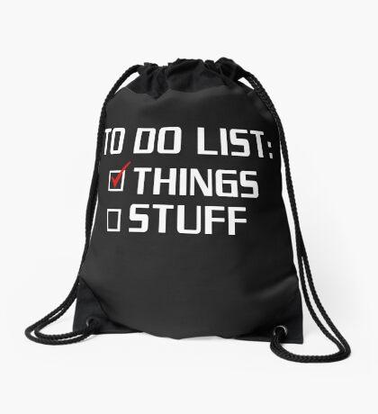 TO DO LIST Drawstring Bag