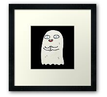funny ghost Framed Print
