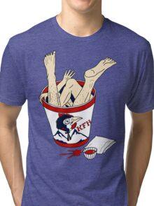 Kentucky Fried Human bucket Tri-blend T-Shirt
