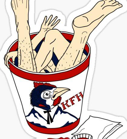 Kentucky Fried Human bucket Sticker