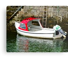 Red and white boat, Milk Harbour, Mullagmore, Donegal Metal Print